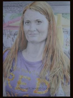 Mona B. #Redhead #Ginger #Drawing #Pencil #Portrait #Art #Freckles http://www.rds-art.weebly.com