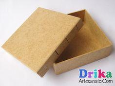 Artesanato em mdf com decoupage: Caixinha com tecido