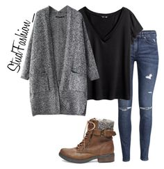 """untitled #328"" by stud-fashion ❤ liked on Polyvore featuring Steve Madden, H&M, women's clothing, women's fashion, women, female, woman, misses and juniors"
