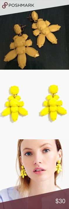 J.Crew Yellow floral earrings Add a punch of color and style to any outfit! Happy yellow color. J. Crew Jewelry Earrings