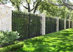 Daltex fence not only offers perimeter wrought iron fencing