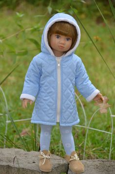 Coat , Dress , Tights for Kidz n Cats doll.