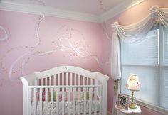 Baby Girl Room Paint Ideas | Nursery Wall Murals, Hand Painted Custom Baby Wall Murals, Newborn ...