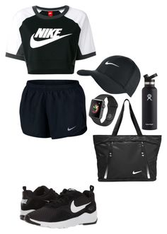 """""""Untitled #870"""" by kokoxpops ❤ liked on Polyvore featuring NIKE and Hydro Flask"""