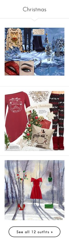 """""""Christmas"""" by jessieturtlegirl ❤ liked on Polyvore featuring Casadei, Casetify, Emilio De La Morena, Schutz, Bling Jewelry, OPI, Ally Fashion, Glamorous, UGG Australia and J.W. Anderson"""
