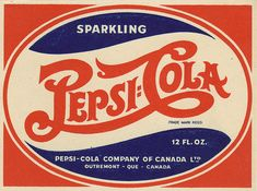 Pepsi-Cola - Canadian bottle label - 1940s by JasonLiebig, via Flickr