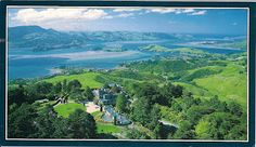 Otago Harbour, South Island, New Zealand. The Otago Peninsula is a perfect juxtaposition of tamed, English-style countryside overlooking the harbour next to wild, wind-swept slopes facing the Southern Ocean on the outside. Love it.