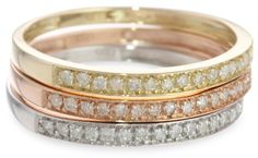 10k Tri-Colored Gold Diamond Stack Ring (1/4 cttw, J-K Color, I2-I3 Clarity), Set of 3, Size 6by Amazon Curated Collection - See more at: http://blackdiamondgemstone.com/colored-diamonds/jewelry/rings/bands/10k-tricolored-gold-diamond-stack-ring-14-cttw-jk-color-i2i3-clarity-set-of-3-size-6-com/#sthash.4jrqMO2S.dpuf