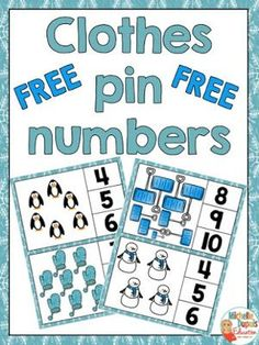 FREEBIE - Clothes pin numbers