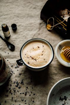 lemon and lavender tea latte - The First Mess