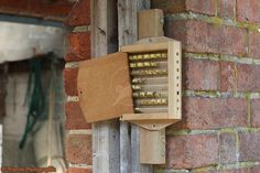 Mason bee nestbox with glass tubes