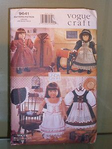 American Girl doll clothes PATTERN Vogue Craft Linda Carr new factory folded | eBay