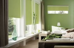 Best Home Design, Room Design, Interior and Exterior: Green Bedroom Decor for Small Bedroom Designs Green Bedroom Design, Green Bedroom Decor, Bedroom Colors, Bedroom Ideas, Design Room, Bedroom Designs, Cortina Roller Black Out, Couleur Feng Shui, Bedrooms