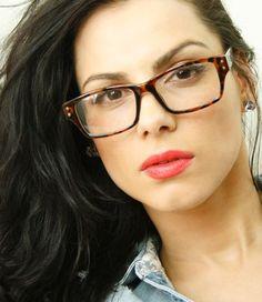 50's Vintage Clear Lenses Tortoise Thick Frame Womens Mens Nerd Geek Eye Glasses #kiss