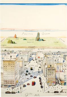 Saul Steinberg View of the World from 9th Avenue / Old New Yorkers cover I believe?
