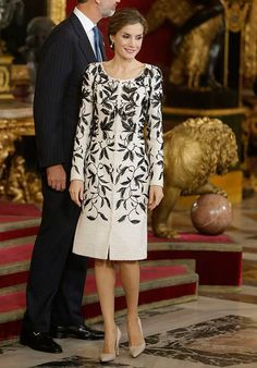 Queen Letizia attended a reception to mark Spain's National Day