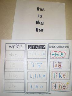 Mrs. Bremer's Kindergarten: alphabet activities