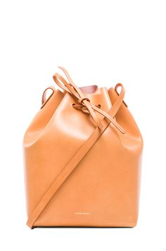Mansur Gavriel Coated Large Bucket Bag in Cammello. Such a buttery color leather!