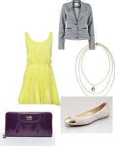"""""""What to Wear With a Striped Blazer"""" by molly-doerrer on Polyvore"""