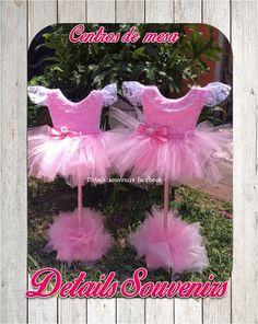 baby shower TuTu centro de mesa Tu Tu  Details souvenirs Facebook Monterrey N.L.
