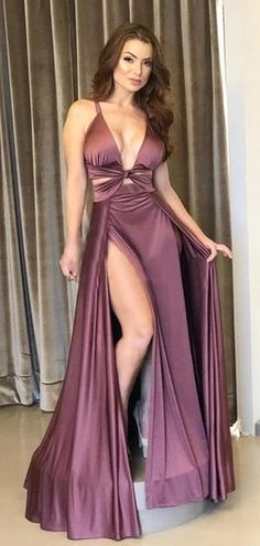 Purple Satin Chiffon Sexy Slip Simple Long Prom Dresses on Luulla Purple Satin, Forever21, Capsule Wardrobe, Cheap Prom Dresses, Formal Dresses, Satin Dresses, Affordable Dresses, Special Dresses, Party