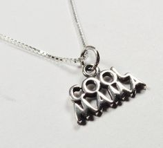 STERLING SILVER COOL MAMA PENDANT MOTHERS DAY APPRECIATION LOVE GIFT NECKLACE #Unbranded #Pendant