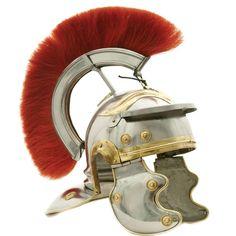 Deluxe Roman Centurion Helmet with Red Plume | Plumed Helmets | Helmets | Armor | Heavenly Swords