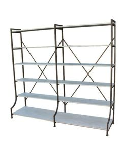 Large Iron & Timber Shelving Unit – Allissias Attic & Vintage French Style