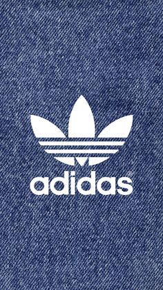 adidas Logo Denim Pattern iPhone Wallpaper