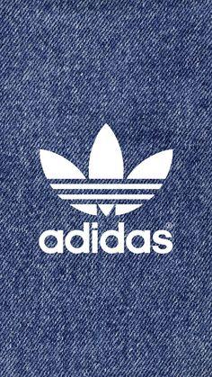 adidas Logo Denim Pattern iPhone Wallpaper