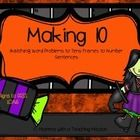 1.OA.6 Practice making 10 with your students with this matching game. Match word problems to tens frames to the equation!
