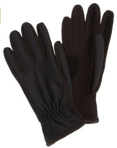 ISO Isotoner Women's cold weather hybrid glove has a spandex back and fleece palm with grip pad for ultimate comfort, fit, and warmth