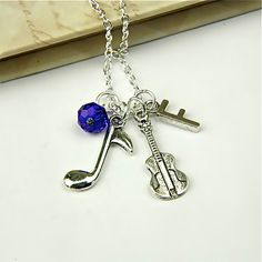 Personalized Acoustic Guitar Necklace with by InitiallyCharming, $10.00