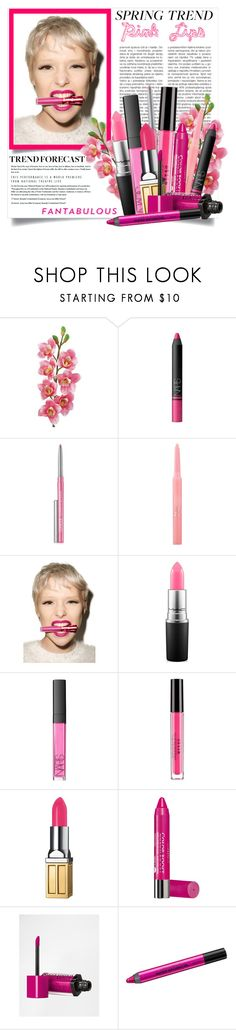 """""""Bright Pink Lipstick"""" by danielle-broekhuizen ❤ liked on Polyvore featuring Belleza, Laura Cole, NARS Cosmetics, Clinique, Christian Dior, Lime Crime, MAC Cosmetics, Stila, Elizabeth Arden y Bourjois"""