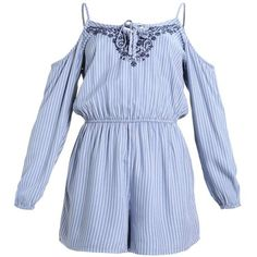 9b7a3f17c22 COLD SHOULDER ROMPER Jumpsuit ❤ liked on Polyvore featuring jumpsuits