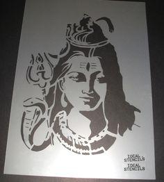 Hindu God Shiva Stencil Home Wall Decor Art Craft Paint Reusable Ideal Stencil…