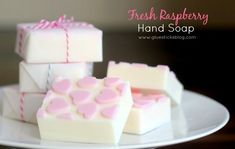 Today I am sharing another simple soap combination: a 3 Step Raspberry soap. It really is as easy as that. 3 simple steps and you have a wonderfully scented homemade gift. I made these bars for the kids to give to their teachers for Valentine's day last year. I will be using the same method I've shared with you in the past. The melt & pour method. It is so fun to come up with different combinations, colors, shapes, and scents. You can see the other varieties we've made here, h...
