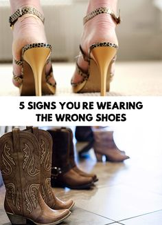 If you have unbearable back pain or you often feel pain in your feet, your shoes might be to blame. 5 Signs You're Wearing The Wrong Shoes!