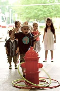 glorriedays: jackson's FIRE TRUCK birthday party! Games
