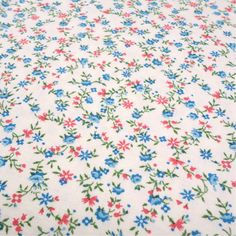 1930's 40's Vintage Floral Calico Fabric by InWiththeOldVintage