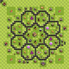 Clash of clans 8. seviye köy düzeni