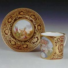 Porcelain Cup & Saucer, 1782 , An important Royal Presentation Piece - given by Louis XVI to Grand Duke Paul, the future Tsar of Russia, 1782.