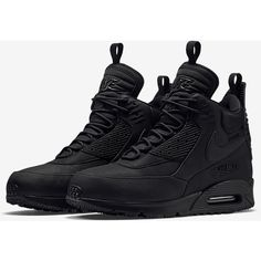 Nike Air Max 90 SneakerBoot Men's Shoe. Nike.com ($180) ❤ liked on Polyvore featuring men's fashion and men's shoes