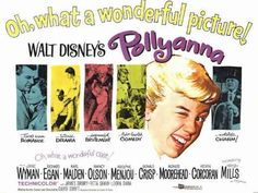 Pollyanna is a Walt Disney Productions feature film starring child actress Hayley Mills, Jane Wyman, and Richard Egan in a story about a cheerful orphan changing the outlook of a small town. Walt Disney, Disney Cast, Classic Disney Movies, Classic Films, Disney Movie Posters, Agnes Moorehead, Childhood Movies, Disneyland Trip, Family Night