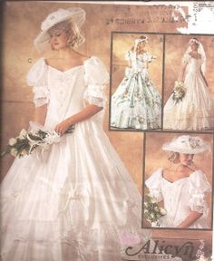 civil war era wedding dresses | ... Century Civil War Era Wedding Dress, Ball Gown OOP Pattern on Etsy