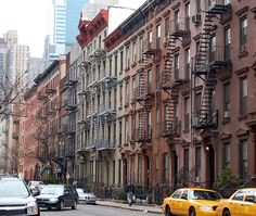 Hell's Kitchen, NY - Bruce Willis still keeps his old walk-up apt. here in which he lived while trying to make it as an actor in NYC! (So I hear.)