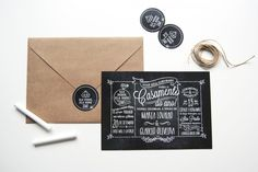chuvadepapel-5 Chalkboard, Wedding Invitations, Wedding Inspiration, Place Card Holders, Lettering, Paper, Cards, Weddings, Wedding Blog