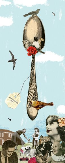 COLLAGEBOX collages for various occasions | Collage by Tara Hardy, The Silver Spoon Orange...