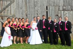 Black & Pink Wedding Party