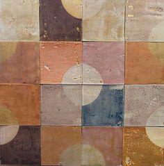 smink things by marianne smink screen-printed ceramic tiles Tile Patterns, Textures Patterns, Handmade Tiles, Color Stories, Tile Design, Colour Schemes, Surface Design, Color Inspiration, Wallpaper